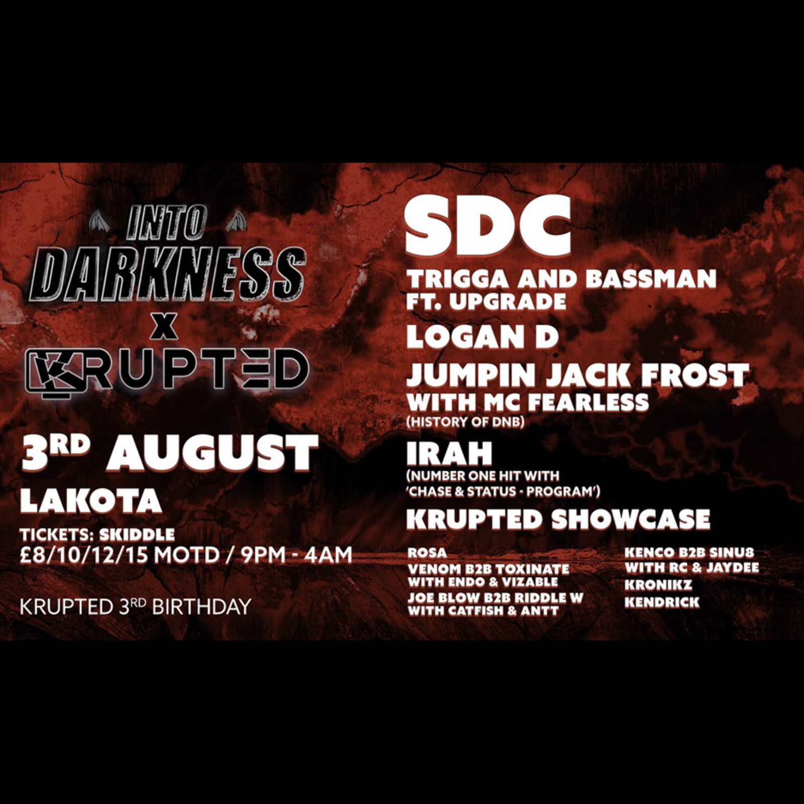 Into Darkness x Krupted 3rd Birthday